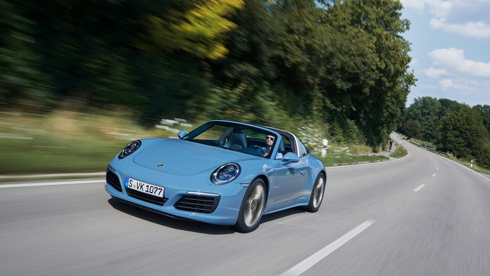 Porsche 911 991.2 Exclusive Design Edition Targa 4S blauw 01