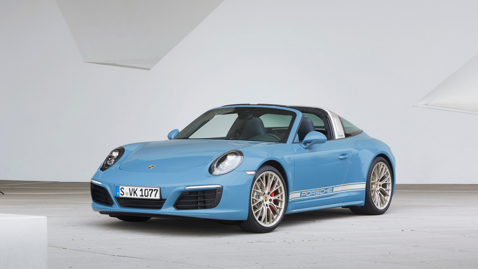 Porsche 911 991.2 Exclusive Design Edition Targa 4S blauw 04